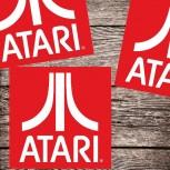 Atari Logo (rot) Aufkleber / Set mit 3 Stück